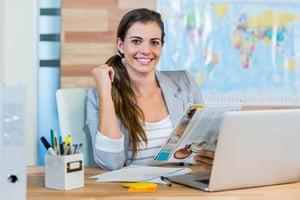 travel agent planning vacation